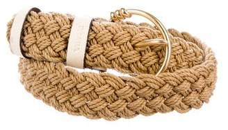 Prada Braided Buckle Belt