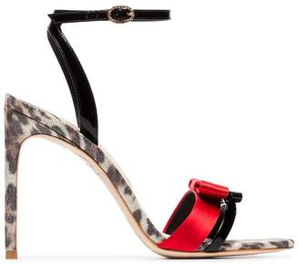 Sophia Webster Andie 100 leopard heel leather sandals