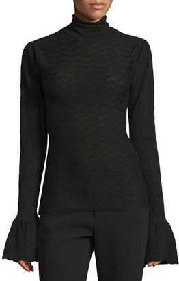 Co Long-Sleeve Textured Top, Black $495 thestylecure.com