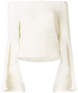 Roberto Cavalli knitted bardot top