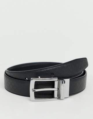 French Connection diamond embossed reversible belt