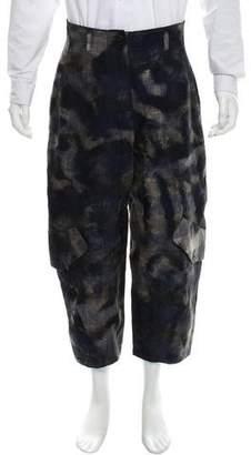 Ivan Grundahl Cropped Linen-Blend Pants