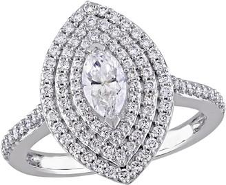 Affinity Diamond Jewelry Affinity 9/10 cttw Marquise Diamond Ring, 14K White Gold
