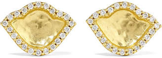 Amrapali Nalika Lotus 18-karat Gold Diamond Earrings