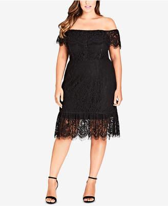 Plus Size Lace Dress Shopstyle Australia