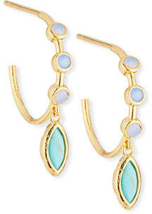 Tai Opal Hoop Earrings w/ Drop