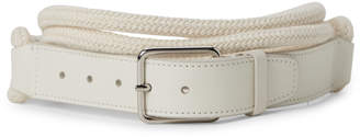 Jil Sander White Thin Rope Belt