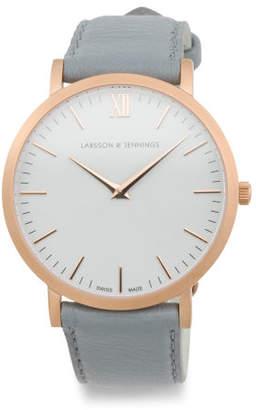 Women's Swiss Made Lugano Classic Leather Strap Watch