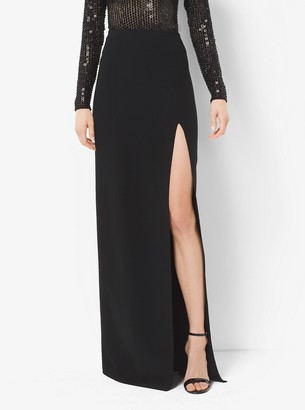 Michael Kors Double-Face Silk and Wool Slit Skirt