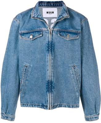 MSGM logo print denim jacket