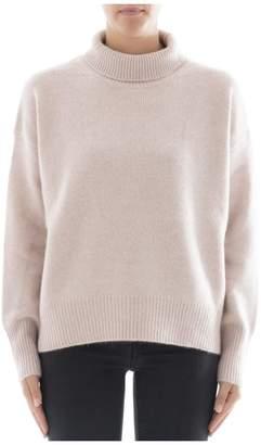 360 Sweater Pink Cachemire Turtleneck