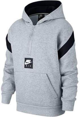Nike Big Boys 1/2-Zip Air-Print Pullover Hoodie