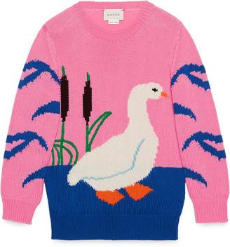 Children's cotton goose sweater $435 thestylecure.com