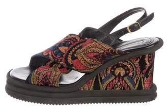 Dries Van Noten Printed Wedge Sandals