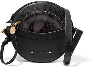 See by Chloe Rosy Textured And Snake-effect Leather Shoulder Bag - Black