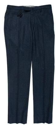 Incotex Wool Printed Pants