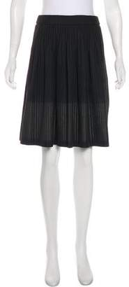 Armani Collezioni Pleated Striped Skirt