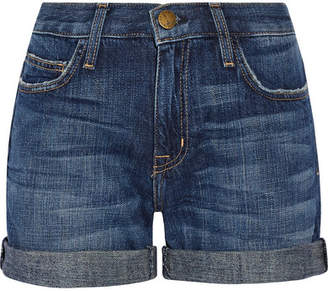 Current/Elliott The Boyfriend Denim Shorts - Mid denim