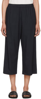 6397 Navy Wide-Leg Pull-On Trousers