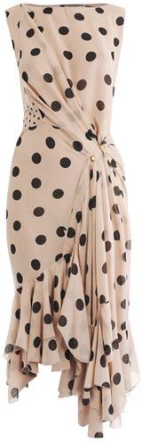 Nina Ricci Silk polka dot-dress