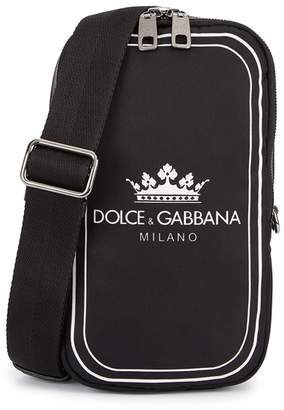 Dolce & Gabbana Monochrome Twill Shoulder Bag