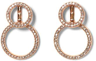 Vince Camuto Rose Goldtone Double-circle Earrings