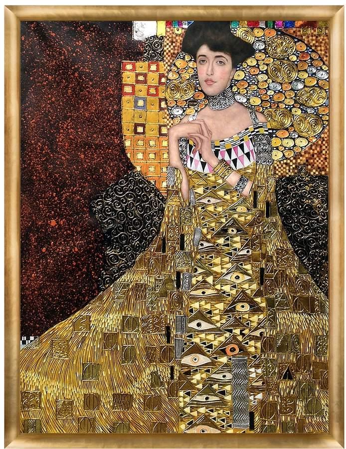 Overstock Art Portrait of Adele Bloch-Bauer I, 1907 (Luxury Line) by Gustav Klimt (Framed Canvas)