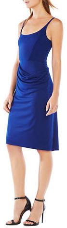 BCBGMAXAZRIABcbgmaxazria Asymmetrical Drape Sleeveless Dress