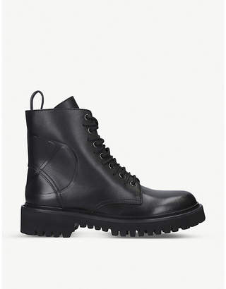 Valentino V-logo leather ankle boots