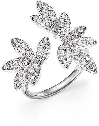Bloomingdale's Diamond Pavé Leaf Ring in 14K White Gold, .85 ct. t.w.