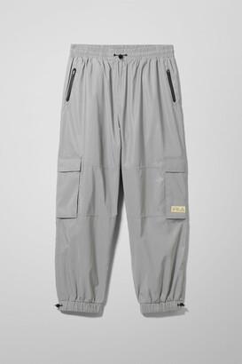 Weekday Malek Reflective Track Pants - Silver