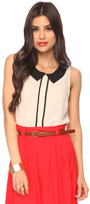 Forever 21 Contrast Collar Tank