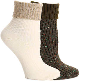HUE Hosiery Thick Cuff Socks - 2 Pack - Women's