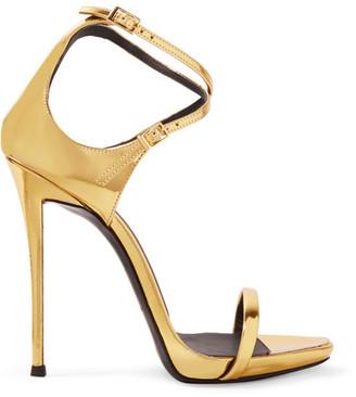 Giuseppe Zanotti - Metallic Leather Sandals - Gold $775 thestylecure.com