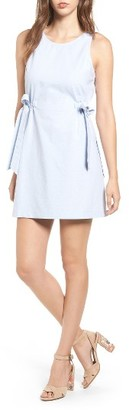 Women's Lush Chambray Shift Dress $45 thestylecure.com