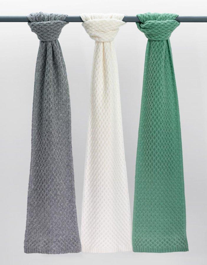 LORD & TAYLOR Basket-Weave Cashmere Muffler