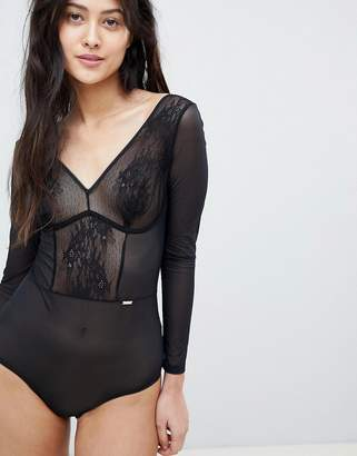 Gossard Glossies Long Sleeve Body