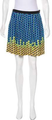 Marc by Marc Jacobs Printed Silk Mini Skirt