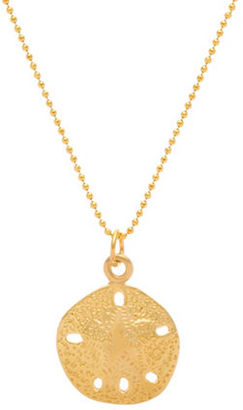 Lord & Taylor Sterling Silver and 18K Gold Sand Dollar Pendant Necklace $55 thestylecure.com