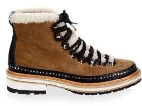Rag & Bone Rag& Bone Women's Compass Shearling Leather Hiker Boots - Camel Shea - Size 36 (6)