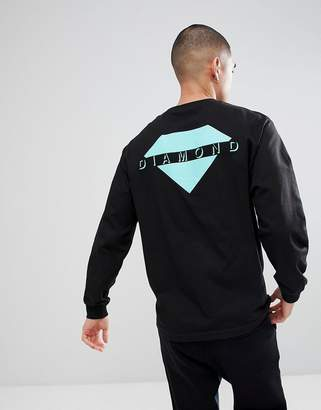 Diamond Supply Co. Viewpoint Long Sleeve T-Shirt In Black