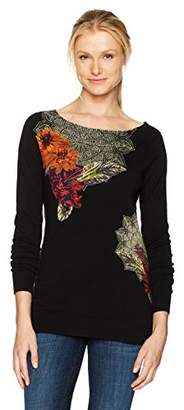 Desigual Women's Aneta Woman Flat Knitted Thin Gauge Pullover