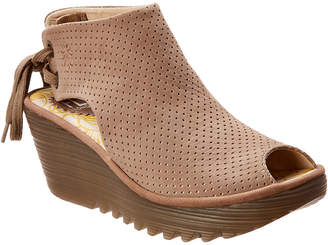 Fly London Ypul Leather Wedge Sandal
