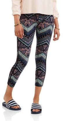 No Comment Juniors' Yummy Printed Legging With Side Stripes