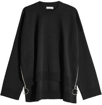 Paco Rabanne Oversized Pullover with Zipped Sides