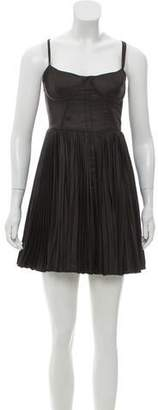 Elizabeth and James Pleated Mini Dress