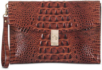 Brahmin Ruth Embossed Leather Clutch