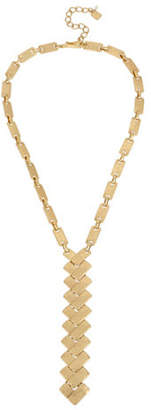 Robert Lee Morris SOHO Primal Connection Geometric Rectangle Link Y-Shaped Necklace