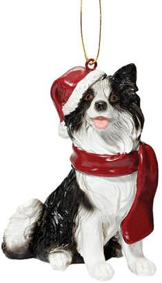 Toscano Design Border Collie Holiday Dog Ornament Sculpture