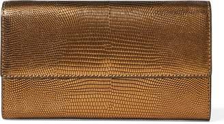 Ralph Lauren Lizard-Embossed Chain Wallet